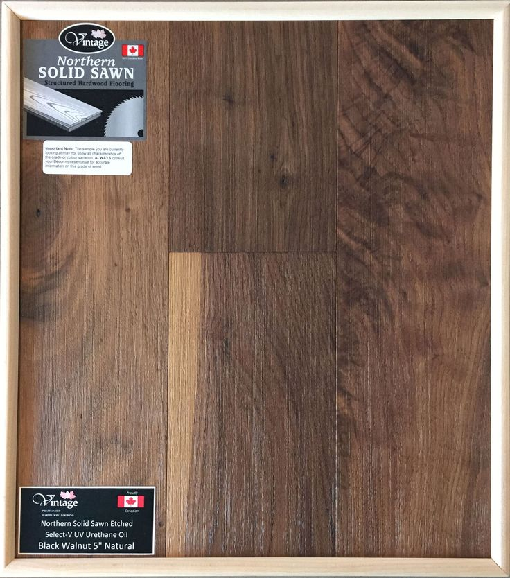 "Personal Selection Engineered Hardwood Flooring - Black Walnut 5"" Natural"