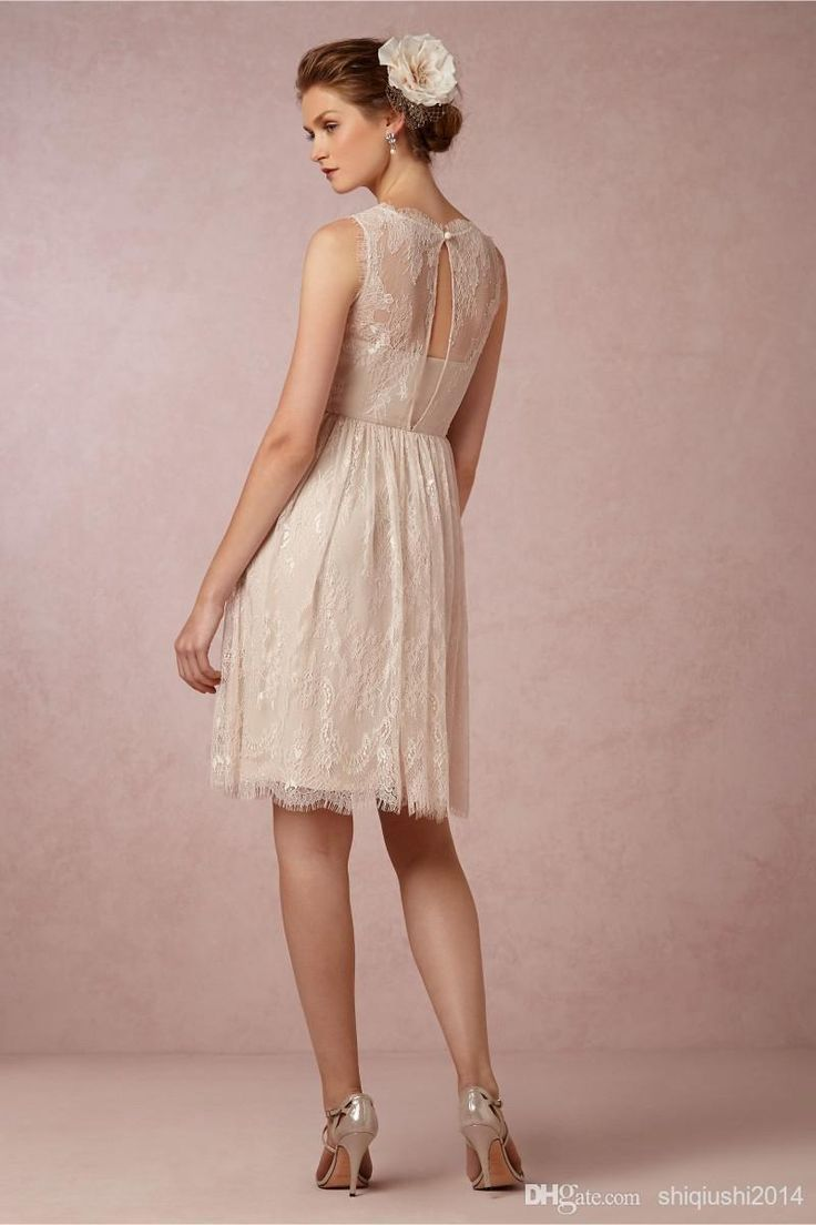 Best 25 contemporary bridesmaids dresses ideas on pinterest cheap best selling 2014 bridesmaid dresses vintage sheer high neck light champagne lace junior plus size cheap short bridesmaid dresses as low as 7237 ombrellifo Image collections