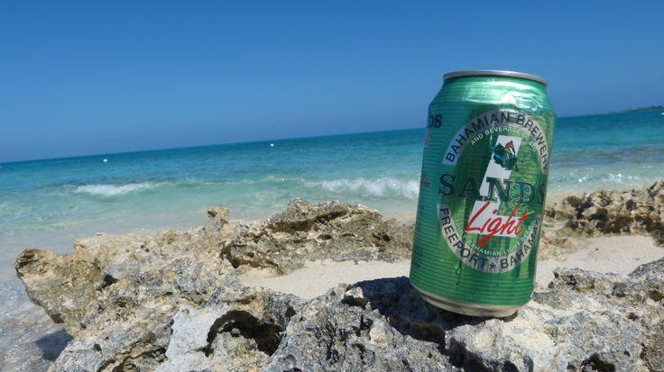 SANDS Beer on the beach. Sandy Toes Beach Bar, Rose Island - Bahamas
