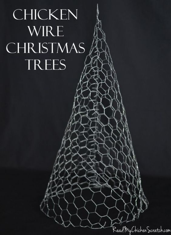 chicken wire christmas trees could paint whitesparkly and decorate - White Outdoor Christmas Tree