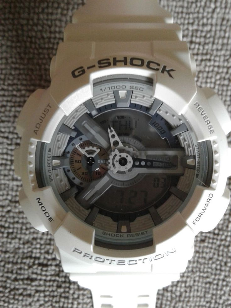 Mens Casio 5146 Ga-110C G-Shock Protection Water Resist White Brand New Battery #Casio #Sport