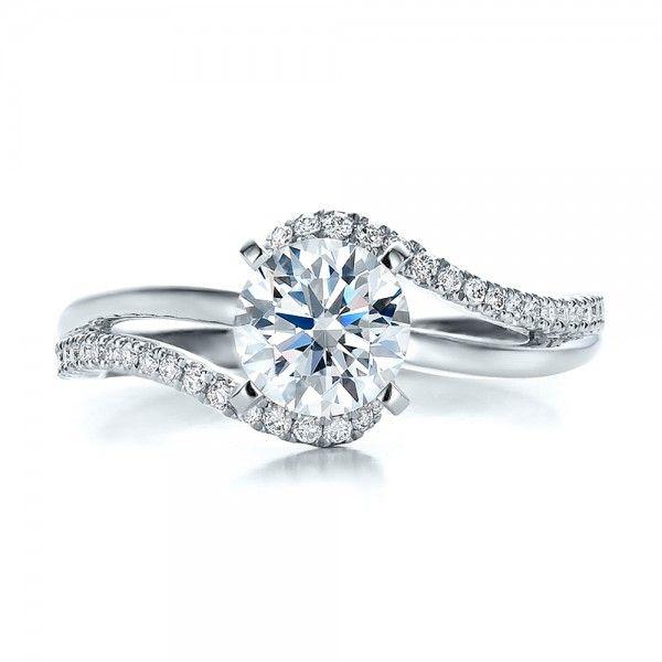 Unique Modern Diamond Engagement Rings | Contemporary Wrapped Split Shank Diamond Engagement Ring | Joseph ...