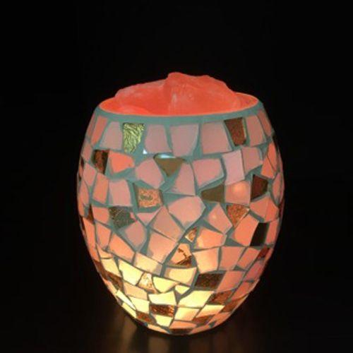 Glass Jar Lamp - Coffee Chip