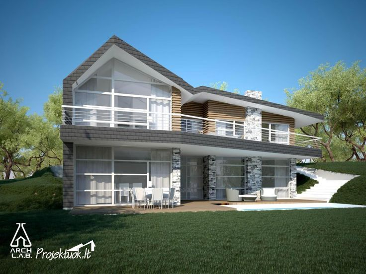 Modernus namas/modern house // Architecture: http://www.archlab.lt/ Construction: www.projektuok.lt