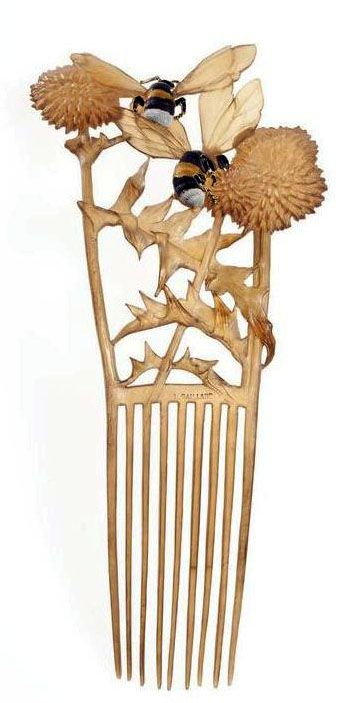 An composition done by Lucien Gaillard referredt to as Bees comb enamel and horn. This piece of art can be found in the Museum of Decorative Arts in Paris. Read about more exciting museums to go to in Paris at theculturetrip.com