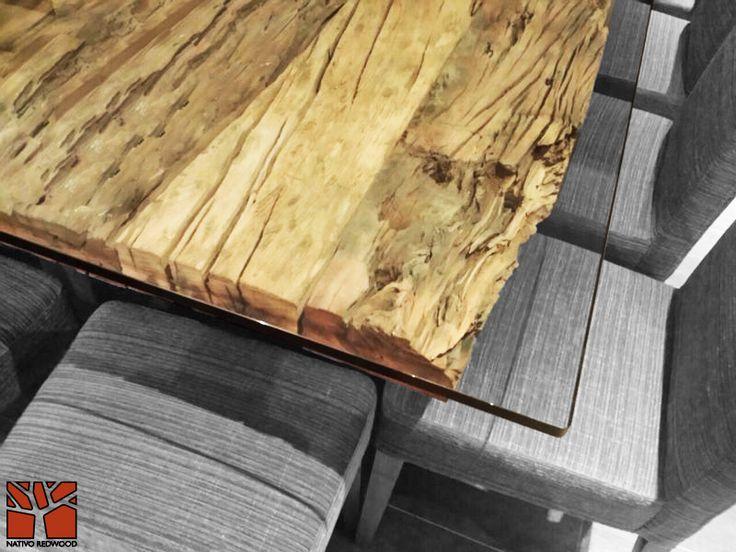 Nativo redwood mesa comedor plankwood durmientes arenados for Cubiertas para comedor