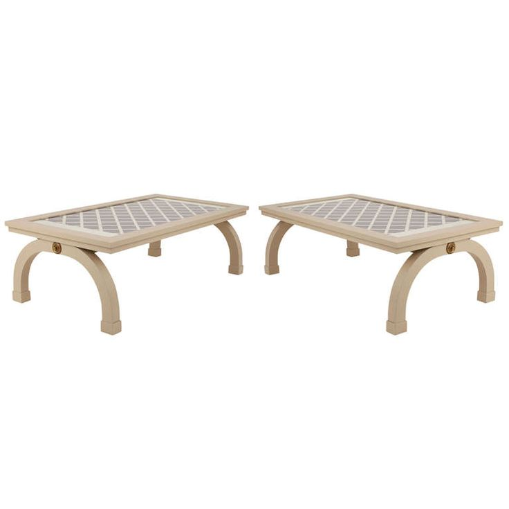 1stdibs | Maison Jansen Style Coffee Table From Lacoste Store 48x28 each
