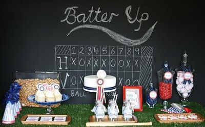 Baseball theme...elegantly done!