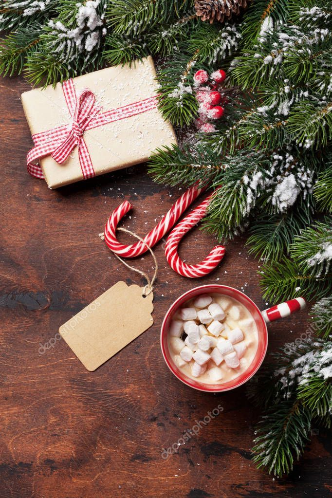 Christmas Gift Box Candy Canes Hot Chocolate Stock Photo Ad Box Candy Christmas Gi In 2020 Christmas Gift Box Photo Christmas Gifts Free Christmas Gifts