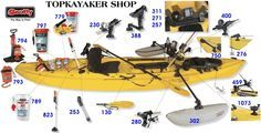 Interactive guide for all kinds of gear for SOT's (Sit-On-Top) kayaks.