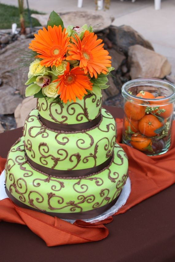 pictures of orange and green wedding cakes 1000 images about green orange cake on cake 18416
