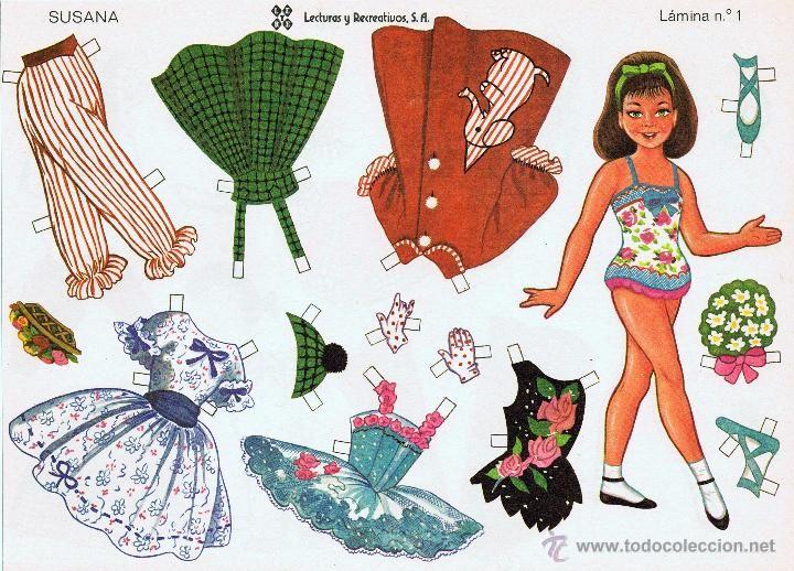 10 LÁMINAS DE RECORTABLES MUÑECAS RECORTABLES LEYRE. 1980 OFRT (Coleccionismo - Recortables - Muñecas)