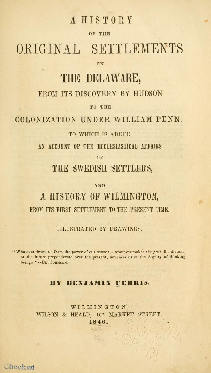 account of the delaware colony Delaware history© (revised 22500)  the dutch finally seized the swedish colony on the lower delaware in 1655  some accounts of the french and indian war.