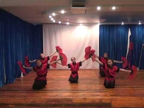 """Студия современного танца """"Триумф"""" .  """"Японский веер"""""""