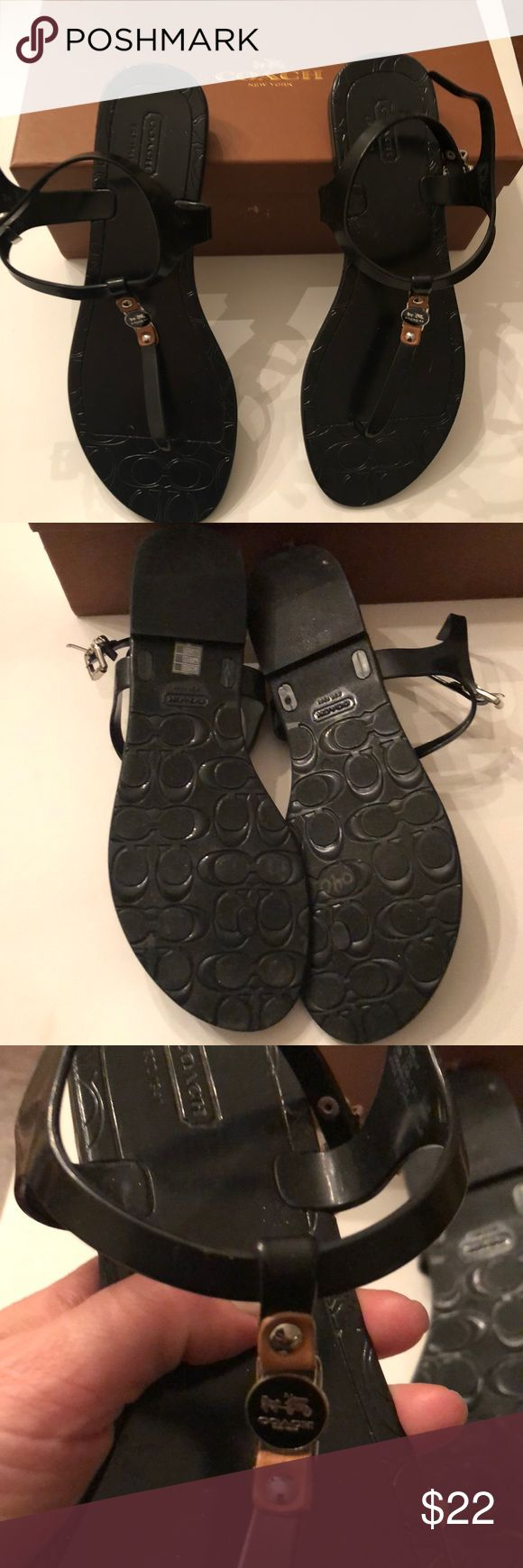 Coach Piccadilly jelly sandals size 10 Coach Piccadilly jelly sandals size 10 style no A6307. Excellent condition used once. They are plastic jelly sandals. Coach Shoes Sandals