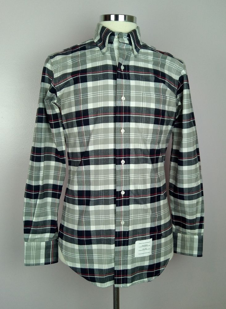 100% Authentic THOM BROWNE Button Down Casual Shirt Size 2 (40)  540 MINT   ThomBrowne  FashionShirt 1a8d834c0