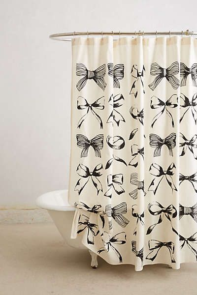 Anthropologie - Bow-Tie Shower CurtainShowers, Bows Shower, Guest Bathroom, Bows Ties, Bow Ties, Bows Ti Shower, Dreams House, Bowties, Shower Curtains