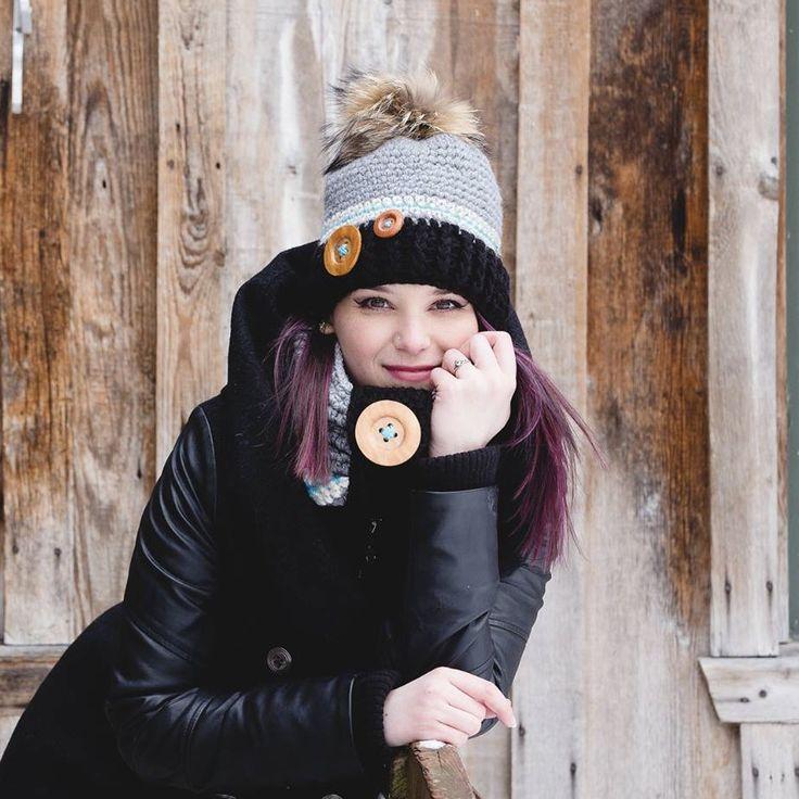 Crochet hat pattern  Tuque bonnet patron au crochet