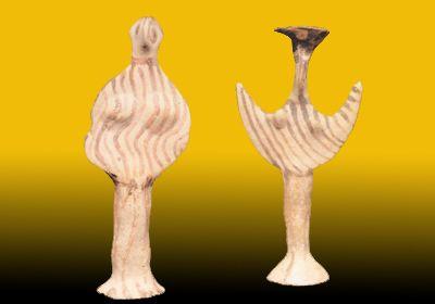 Statuette fittili di argilla. Miceneo medio, XIV-XIII. Cambridge, Fitzwilliam Museum, Università di Cambridge