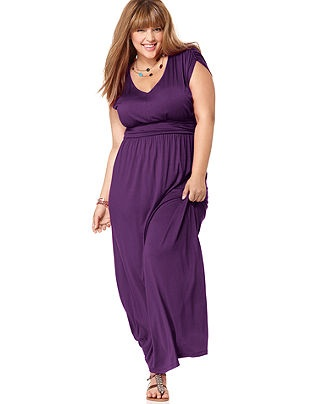 Short Sleeve Ruched Empire Maxi