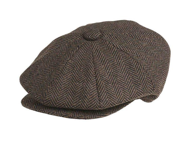 Details about SALE Herringbone Peaky Blinder's Style Hat News Boy Baker Boy Gatsby Cap