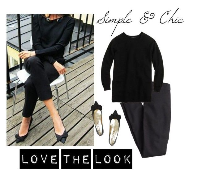 """""""Simple & Chic"""" by bluehydrangea ❤ liked on Polyvore featuring J.Crew and French Sole FS/NY"""