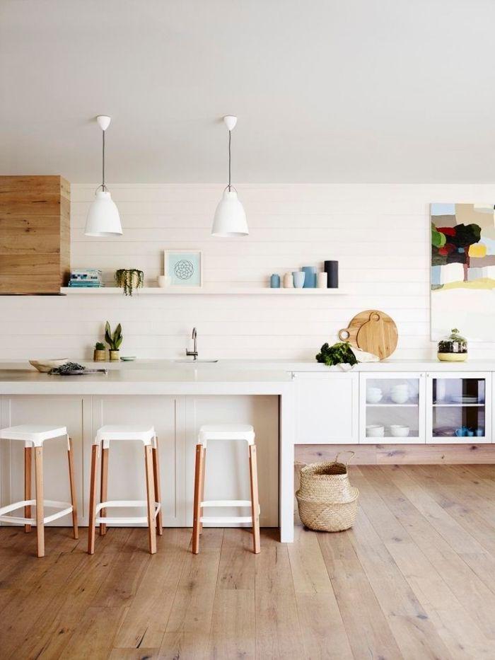 1001 Exemples Pharamineux De La Cuisine En Bois Home White Kitchen Decor Interior