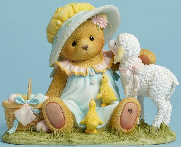 Easter Bear Figurine: Cherished Teddies by Artists Priscilla and Glen Hillman