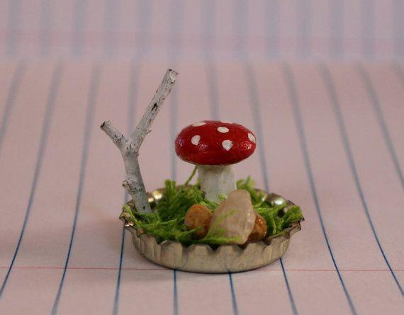 Bottle Cap Mushroom Garden
