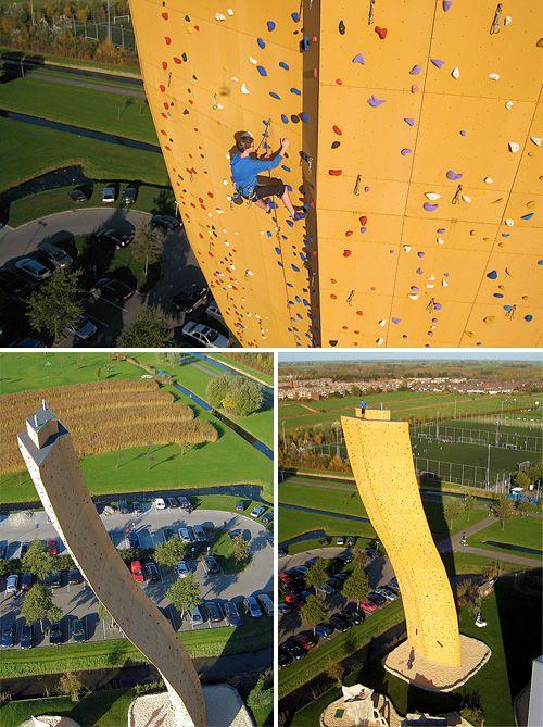 I would never rock climb at Excalibur at the Klimcentrum Bjoeks in Groningen, Netherlands (over 121-ft tall).