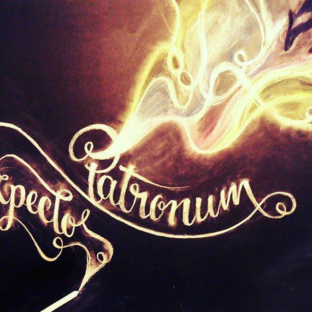 Varitas de tiza #Lettering #HarryPotter #Expectopatronum #Chalklettering
