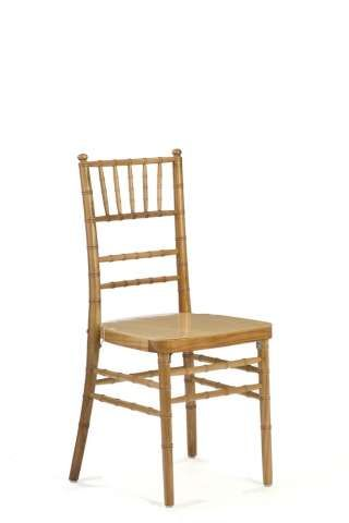 Natural Wood Chiavari Chairs - with Ivory Chair Pads (not in picture)