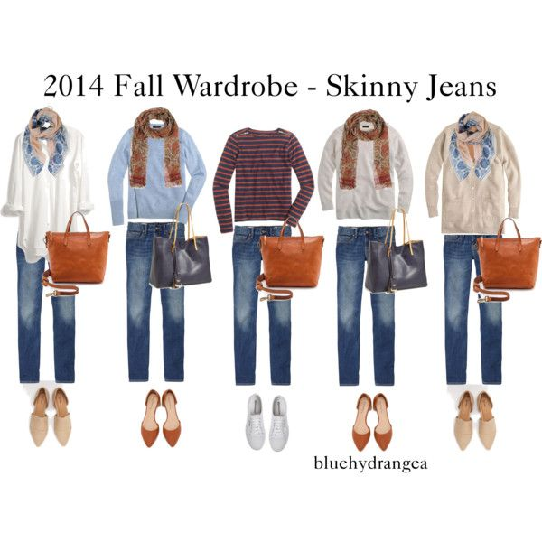 Fall Wardrobe - Skinny Jeans by bluehydrangea on Polyvore featuring J.Crew, Madewell, Gap, Superga, Poverty Flats, Salvatore Piccolo and Humble Chic