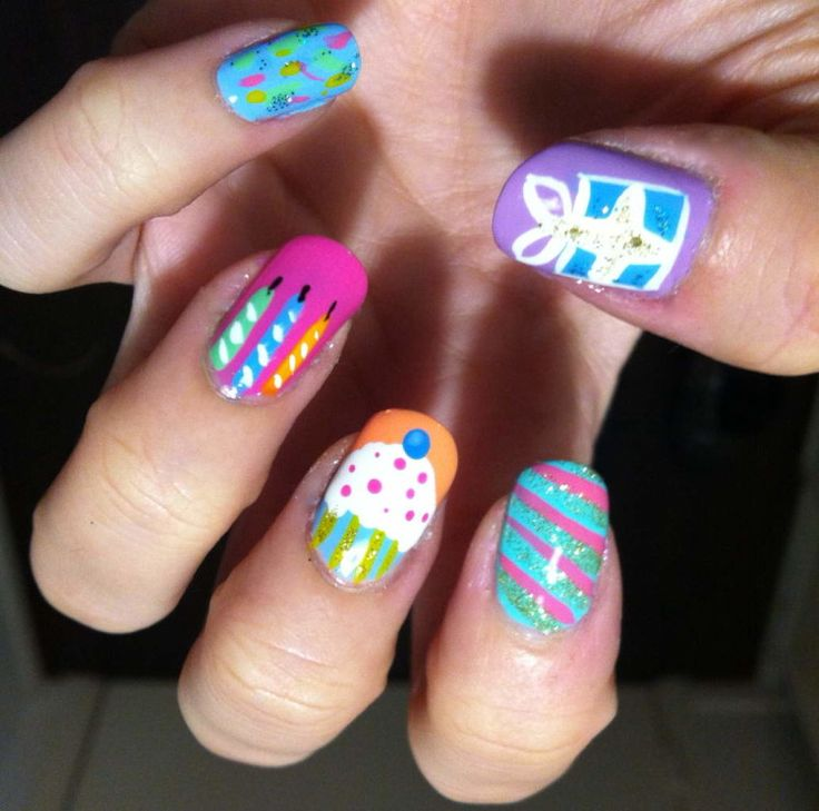 21 best nail art designs for birthday party images on pinterest fun birthday nail art pictures photos images prinsesfo Choice Image