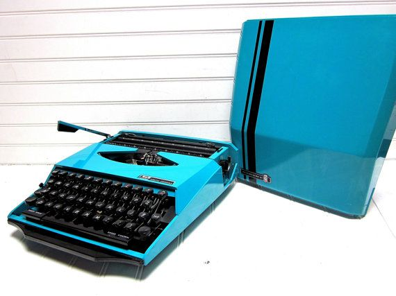 Vintage Typewriter Aqua Blue Smith Corona by GoodBonesVintageCo