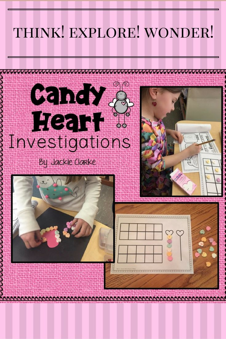 "Celebrate Valentine's Day with these 8 math investigations. Each begins with a question to focus the investigation and then invites young learners to use simple Guess and Check boxes to make and test predictions and record outcomes. On each record sheet, children meet a math mascot (Love Bug) who asks ""Math Talk"" questions to help them reflect and discuss the outcomes of the investigation."