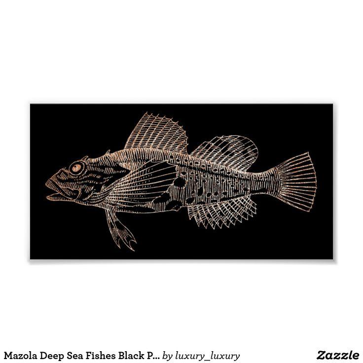 Mazola Deep Sea Fishes Black Pink Rose Gold Blush