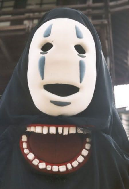 Spirited Away- ' No Face ' mask suggestions.