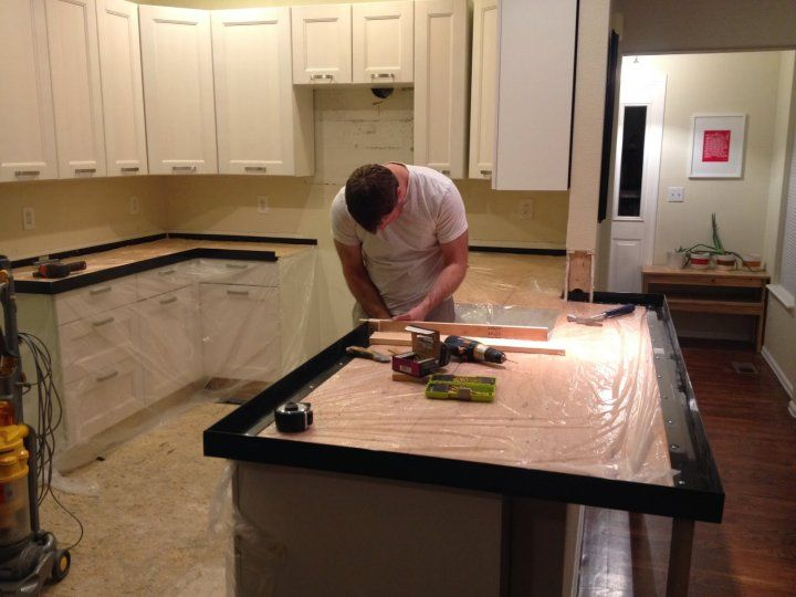 create rooms the spaces concrete install how glue forms tos countertop kitchen place countertops diy luan and to trim pour in
