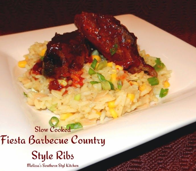 Melissa's Southern Style Kitchen: Slow Cooked Fiesta Barbecue Country Style Ribs