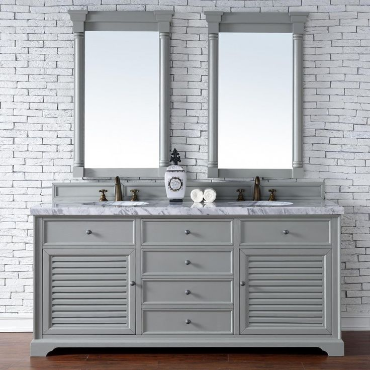 Abstron 72 inch Double Sink Bathroom Vanity Cottage Grey Finish