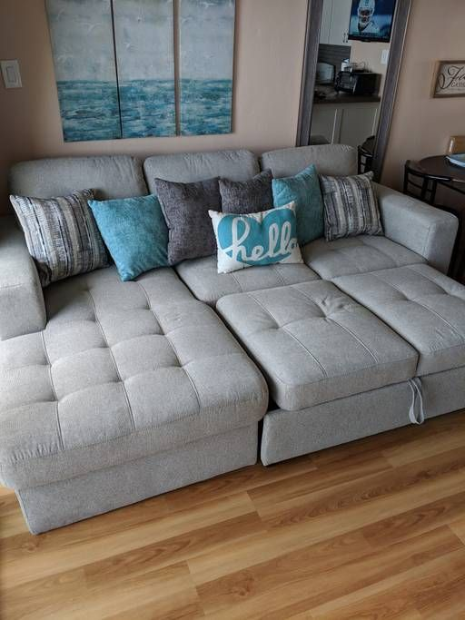 Couch converts into a bed   Home decor, Sectional couch, Couch