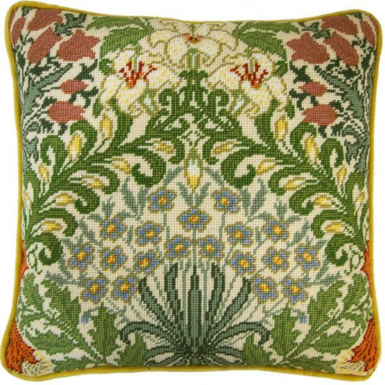 Create your very own piece of tapestry with this Garden Tapestry Panel Kit for a cushion.