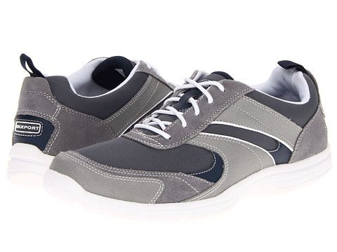 Rockport Wachusett Trail Sport Lace-Up Grey/Navy - Zappos.com