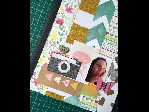 Caderno decorado com scrapbooking - YouTube