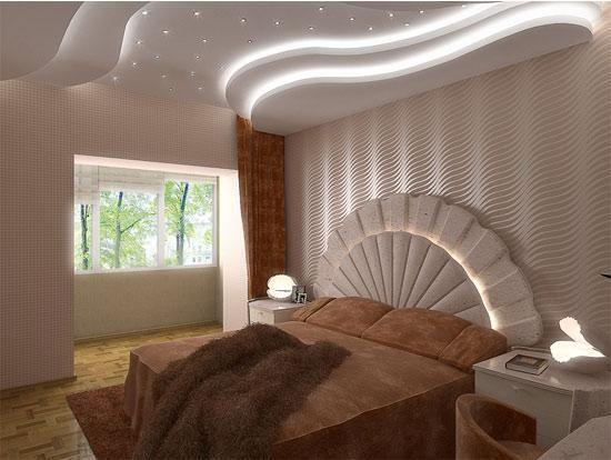 pop design bedroom ceiling home design and interior decoration bedroom bed wallpaper ceiling lights models 2016 - Home Design 2016