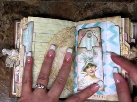 Vintage Style Junk Journal using Seneca Pond Crafts Digital Kits - YouTube