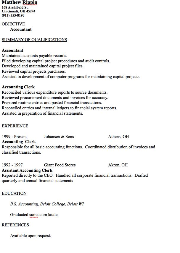 Entry Level Accountant Resume Sample - http://resumesdesign.com/entry-level-accountant-resume-sample/