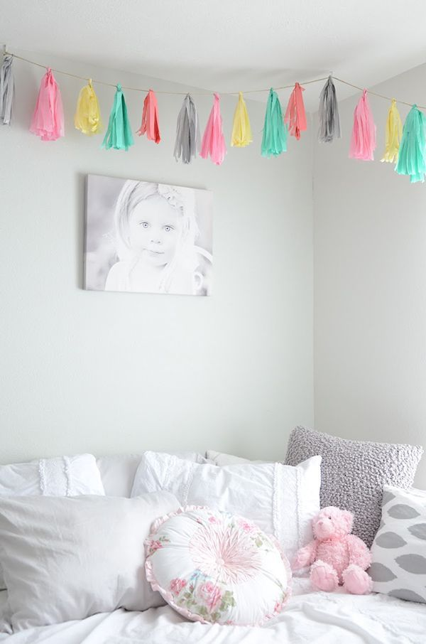 Colourful Little Girls Bedroom