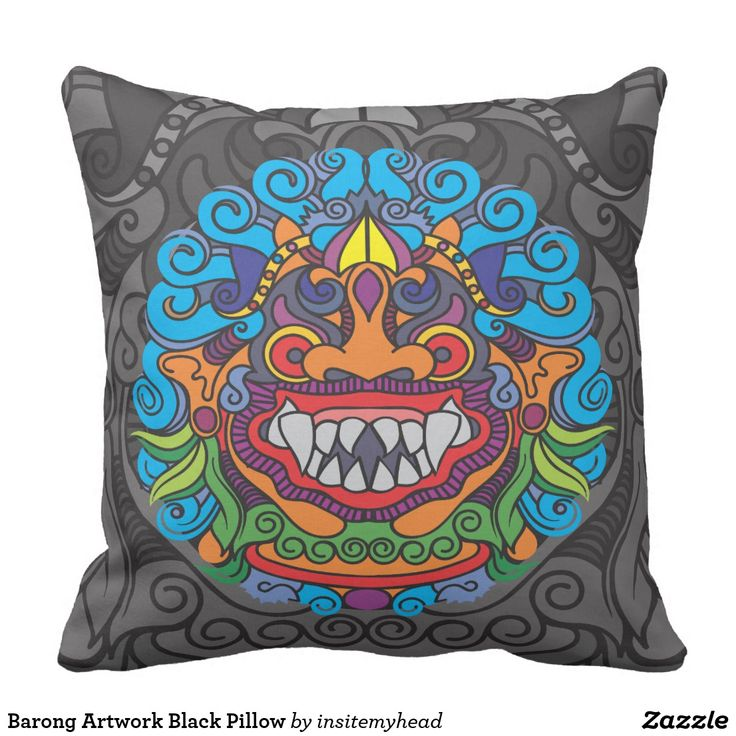 Barong Artwork Black Pillow #bag #totebag #backpack #travel #gift #black #friday #shopping #product #cool #funny #animal #home #pillow